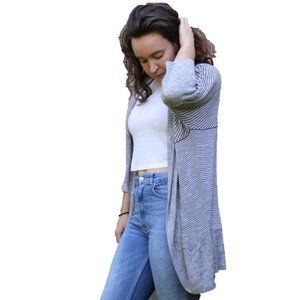 3/$45 - Say What? Grey Long Sweater Cardigan